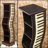 ピアノ鍵盤モチーフ cdホルダー ブラウン