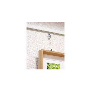 画像2: 壁付フックレール セット 長さ2000mm 木目調 角型