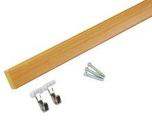 詳細写真1: 壁付フックレール セット 長さ1000mm 木目調 角型