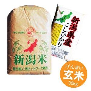 画像1: 新潟県産 玄米 こしひかり 30kg 令和2年産