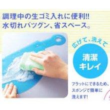 詳細写真2: たためる水切り三角ポット 大 ブルー
