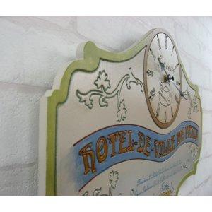 画像3: ビンテージ レーベルクロック ホテルドパリス