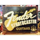 ブリキ看板 フェンダー ギター 60周年
