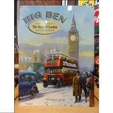 ブリキ看板 BIG BEN ビッグベン 英国バス