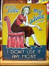 ブリキ看板 私からのアドバイス