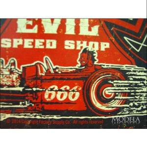 画像3: ブリキ看板 ビンテージエヴィル 地獄ロッド