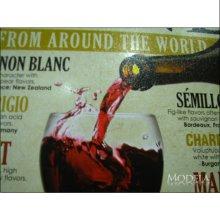 詳細写真3: ブリキ看板 世界中のワイン WINE