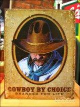 ブリキ看板 Cowboy by choice