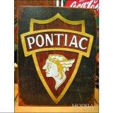 ブリキ看板 ポンティアック ロゴ 1930
