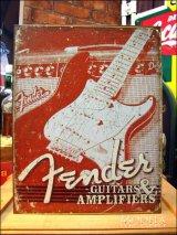 ブリキ看板 フェンダー ギター