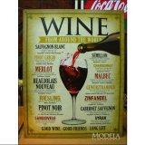 ブリキ看板 世界中のワイン WINE