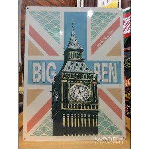 画像1: ブリキ看板 BIG BEN 時計台 ビッグベン