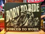 ブリキ看板 Born to Ride バイク