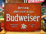 ブリキ看板 バドワイザー DRINK