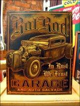 ブリキ看板 Rat Rod Garage