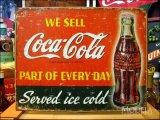 ブリキ看板 コカ・コーラ 日常の一部