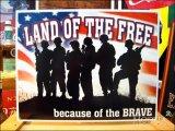ブリキ看板 自由の国 勇士がいるから