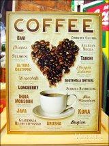 ブリキ看板 コーヒー ブランド銘柄