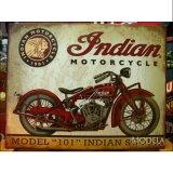 ブリキ看板 インディアン モーターサイクル スカウト