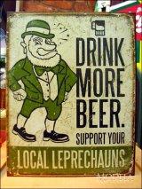 ブリキ看板 ビールをもっと飲むと