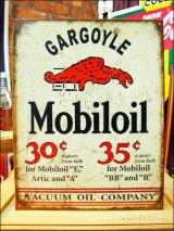 ブリキ看板 Mobil oil Gargoyle
