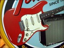 詳細写真3: ブリキ看板 フェンダー ギターとアンプ