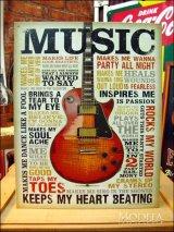 ブリキ看板 ミュージック 音楽での励起