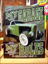 ブリキ看板 私のガレージ