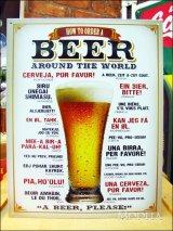 ブリキ看板 ビール 世界の注文方法