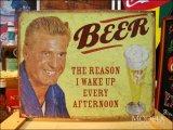 ブリキ看板 ビールを飲む理由