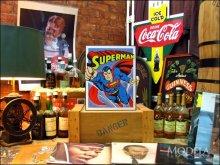 詳細写真2: ブリキ看板 スーパーマン コミック