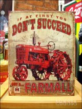 ブリキ看板 Farmall 成功するために