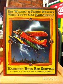 詳細写真1: ブリキ看板 Kahonee Air service