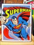 画像1: ブリキ看板 スーパーマン コミック (1)