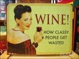 ブリキ看板 ワイン 身分の高い人々