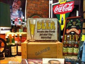 画像2: ブリキ看板  ビール あなたの友達