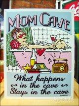 ブリキ看板 Mom Cave 聖域