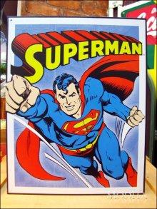 詳細写真1: ブリキ看板 スーパーマン コミック