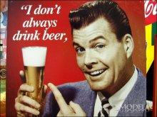 詳細写真3: ブリキ看板 もっと飲みたい ビール