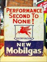 ブリキ看板 モービル Mobil ひけをとらない性能