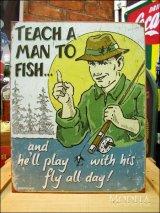 ブリキ看板 釣りを知ったならば