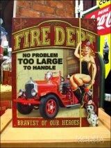 ブリキ看板 消防士 問題なし