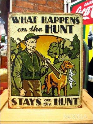 画像1: ブリキ看板 生粋の狩人