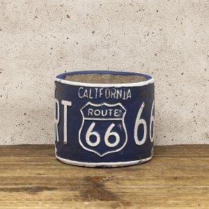 画像1: ルート66 プランター ラウンド ブルー route66