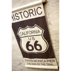 画像2: アンティークタペストリー  historic california66 018 ショート