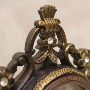 画像2: ビクトリアンパレス テーブルクロック ニューローマ ブラウン