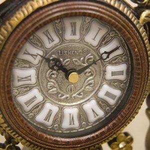 画像3: ビクトリアンパレス テーブルクロック ニューローマ ブラウン