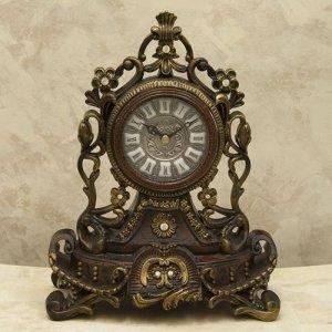 画像1: ビクトリアンパレス テーブルクロック ニューローマ ブラウン