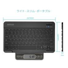 詳細写真1: Arteck ウルトラスリム Bluetooth ワイヤレスキーボード 超薄 7カラーLEDバックライト