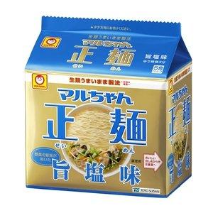 画像1: マルちゃん 正麺 旨塩味 5食×6パック 1箱